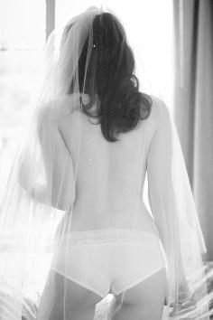 bridal boudoir with a veil