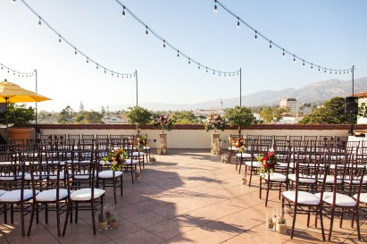 the ceremony venue at canary hotel
