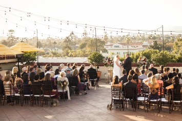 canary hotel rooftop wedding reception