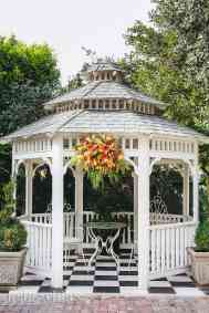 gazebo ceremony area at christmas house inn & gardens in california
