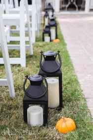 festive lanterns at wedding venue ceremony area