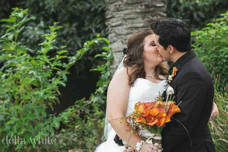 kissing in the greenery