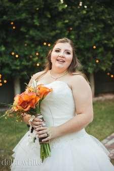 bride at christmas house rancho cucamonga