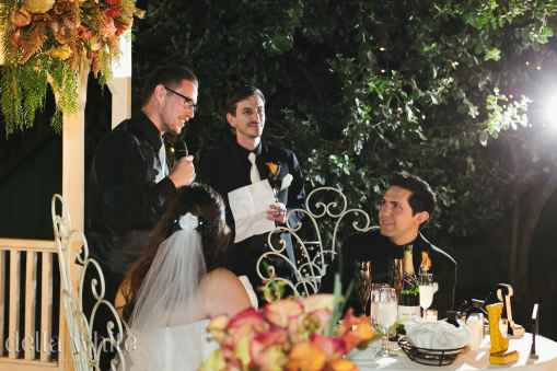 toasts during the evening reception
