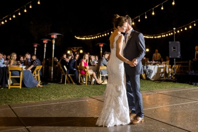first dance outside at night temecula creek inn