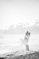 black and white photo on laguna beach