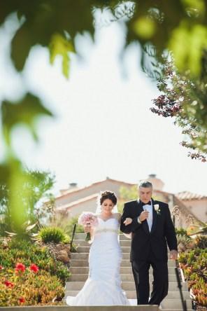 bride and dad at rancho chiquita