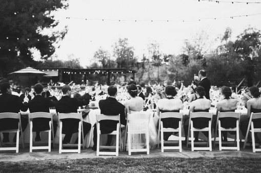toasting during the reception
