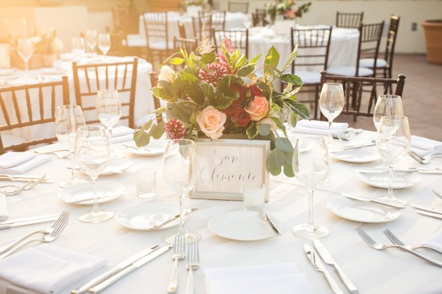 reception table centerpieces