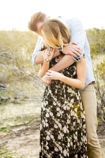 sweet embrace during the engagement session