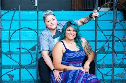 engagement photos in LA arts district