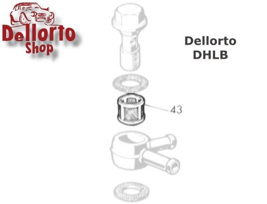 1419 Fuel banjo filter for Dellorto DHLB carburetors