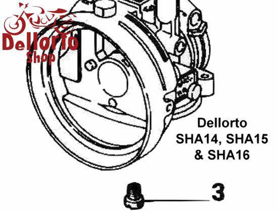 (3) Main Jet for Dellorto SHA14 SHA15 and SHA16