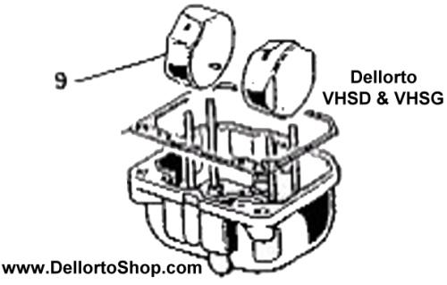 (9) Single white plastic float for Dellorto VHSD and VHSG