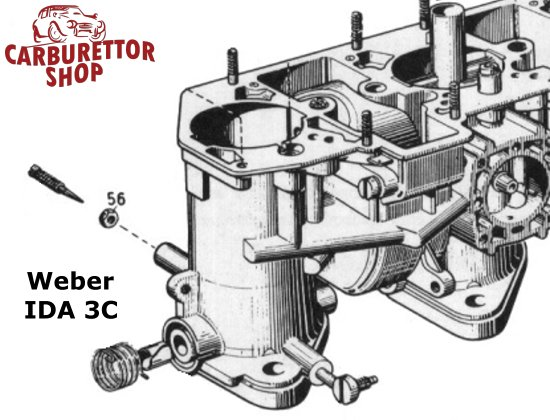 Weber IDA 3-Barrel Carburetor Parts