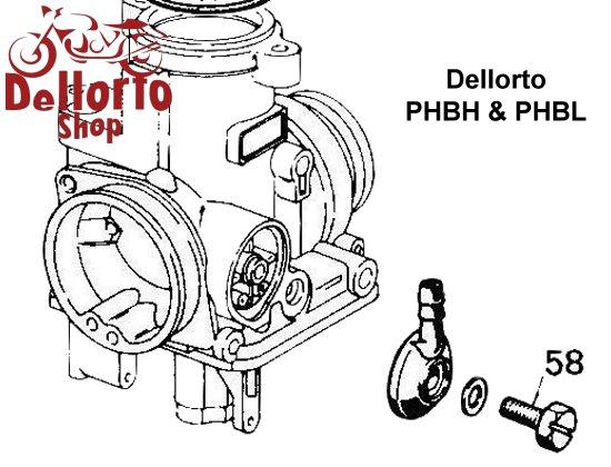 (58) Short Fuel Banjo Bolt for Dellorto PHBH and PHBL