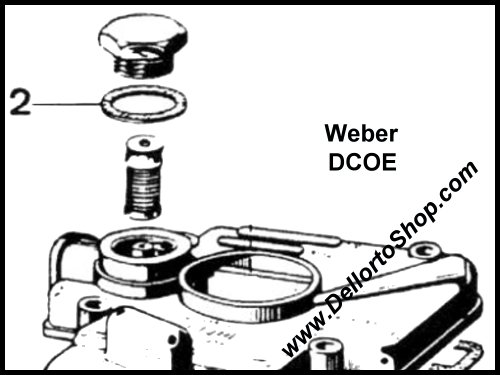 (2) Fiber Seal for Fuel Banjo for Weber DCOE carburetors