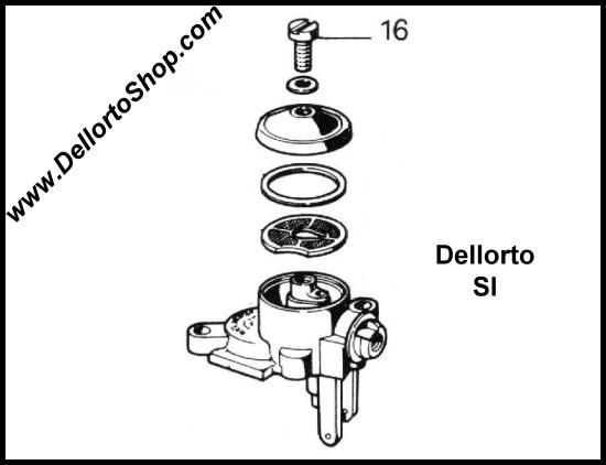 Dellorto SI Carburetor Parts