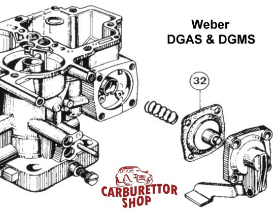 (32) Pump Diaphragm for Weber DGAS and DGMS carburetors