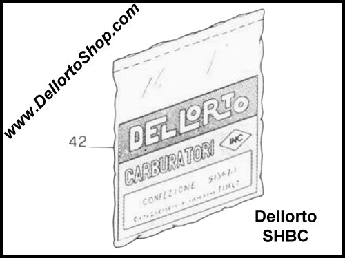 Dellorto SHB and SHBC Carburetor Parts
