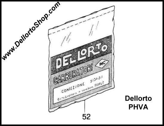Dellorto PHBN and PHVA Carburetor Parts