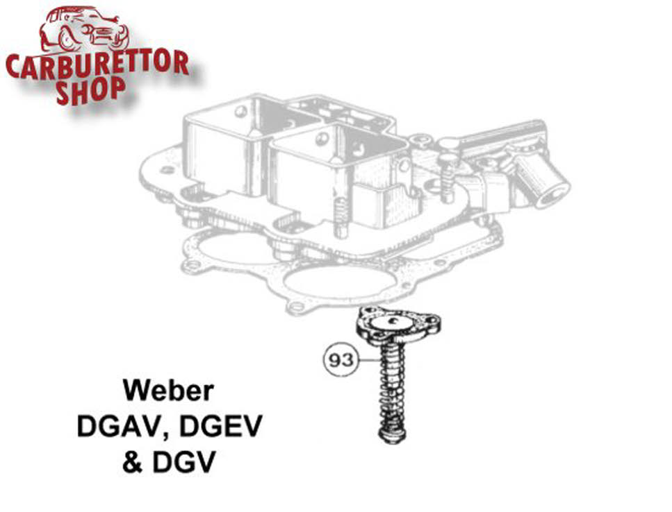Weber DGAV, DGEV and DGV carburetor parts