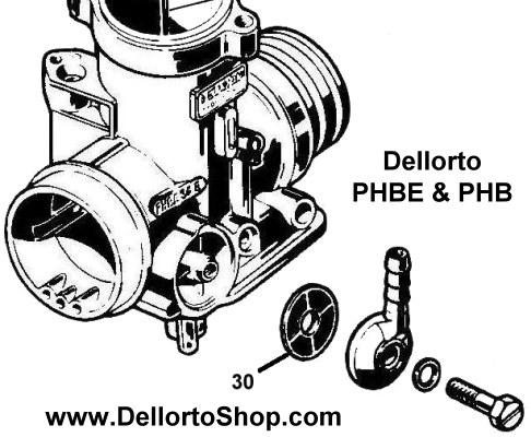 (30) Banjo Fuel Filter for Dellorto PHB and PHBE