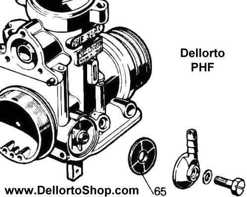 (65) Banjo Fuel Filter for Dellorto PHF carburetors 6109
