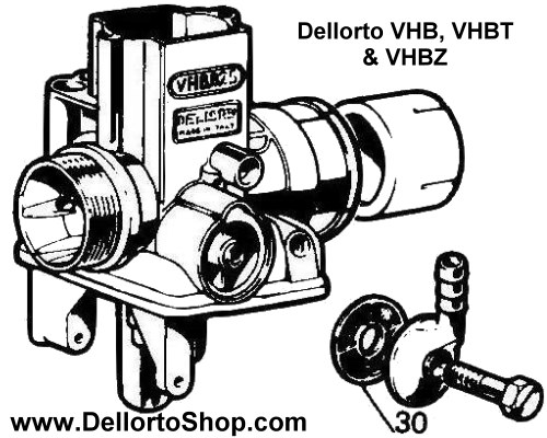 (30) Banjo Fuel Filter for Dellorto VHB VHBZ and VHBT