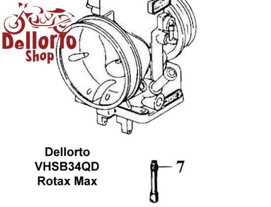 (7) Choke Jet for Dellorto VHSB34QD carburetors for Rotax