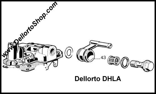 (43) Single Fuel Union for Dellorto DHLA carburetors