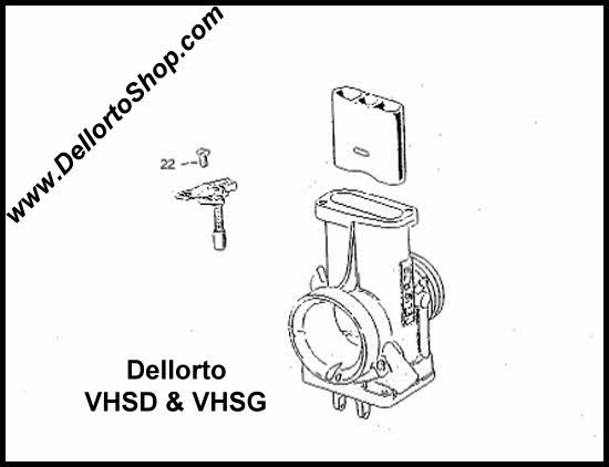 (22) Choke Assembly Support Screw for Dellorto VHSD and