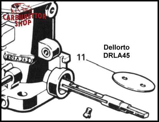 (11) Throttle Butterfly Disc for Dellorto DRLA45 carburetors