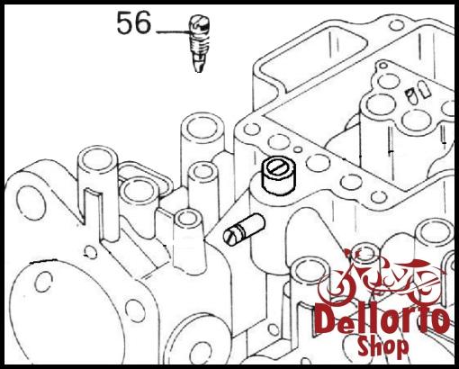 (56) Air Bleed Screw for Dellorto DHLA carburetors with