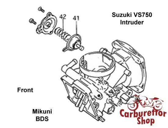 (F41 + F42) Air Cut-Off Valve for Mikuni carburetors for