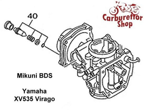 Yamaha XV535 Virago Carburetor Parts and Rebuild Kits