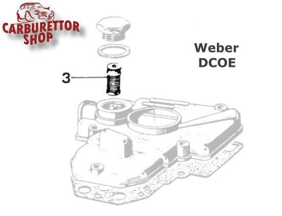 (3) Fuel Inlet Filter for Weber DCOE carburetors 37022.002
