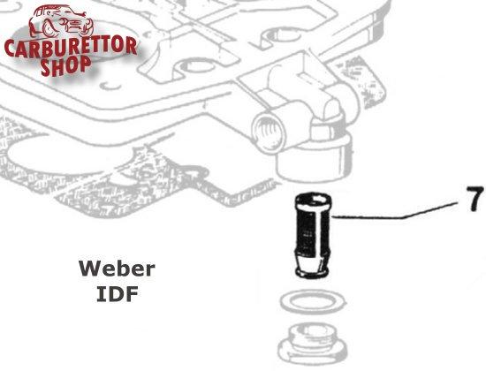 (7) Fuel Inlet Filter for Weber IDF carburetors 37022.002