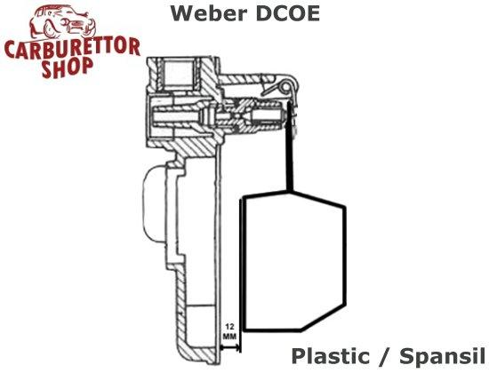 (9) Plastic Float for Spanish Weber DCOE DCO SP