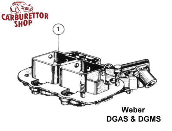 Weber DGAS and DGMS carburetor parts