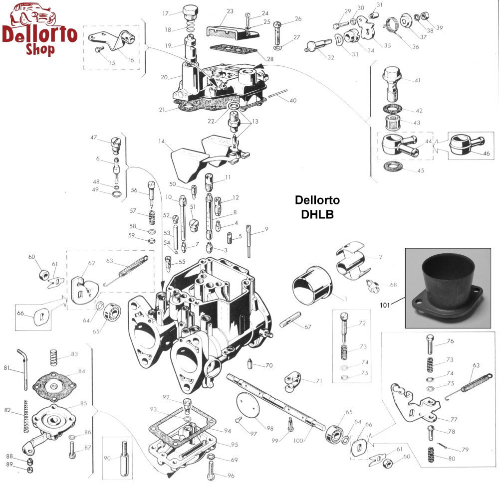 Dellorto DHLB Carburetor Parts
