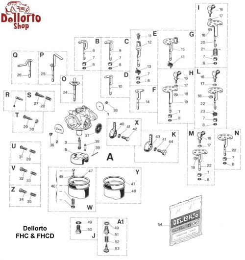 small resolution of  dellorto fhc and fhcd exploded view drawing