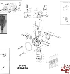dellorto shb and shbc exploded view drawing  [ 1000 x 972 Pixel ]