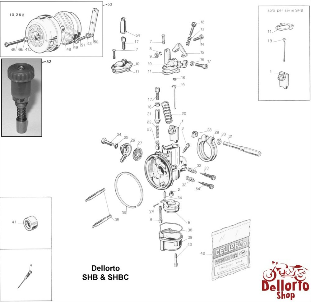medium resolution of  dellorto shb and shbc exploded view drawing