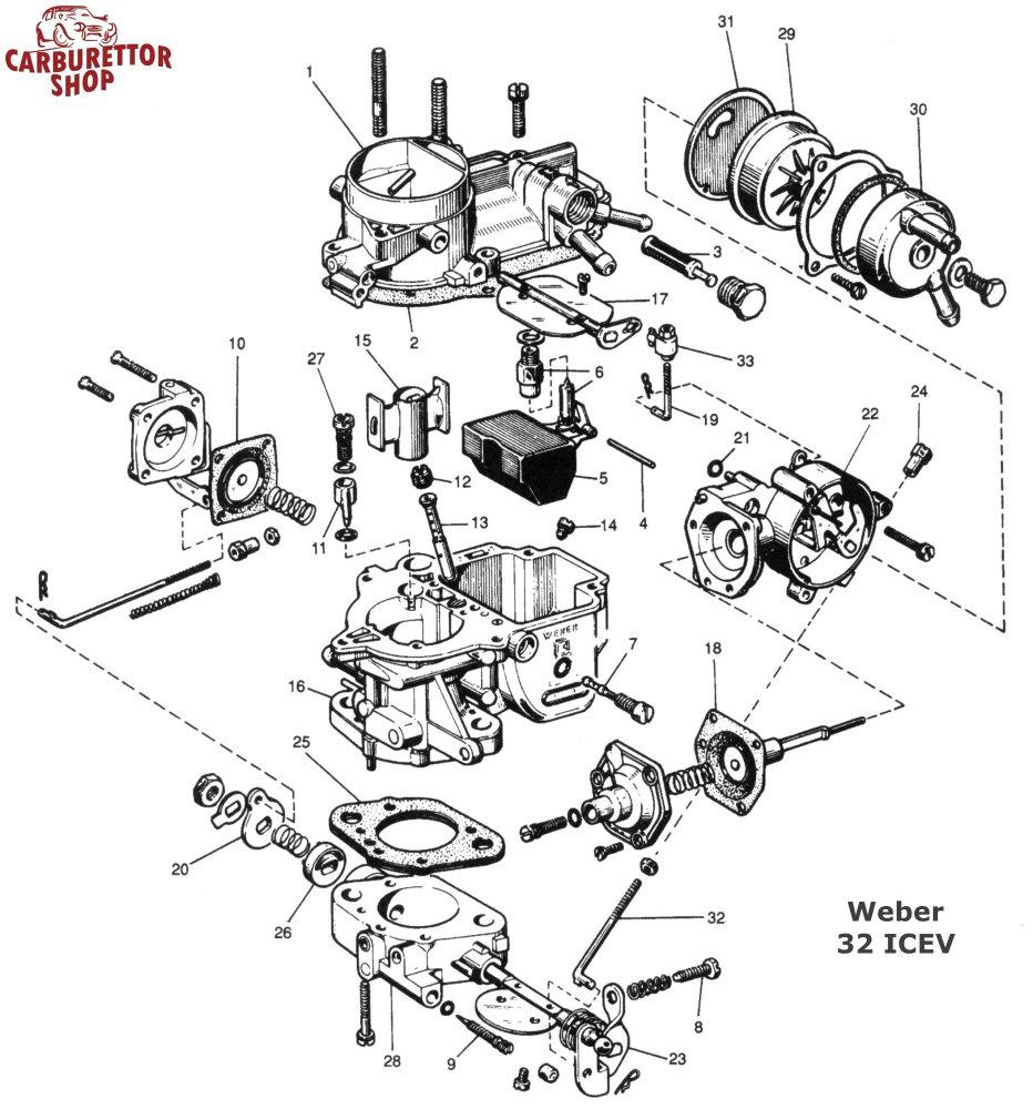 Weber ICEV Carburetor Parts