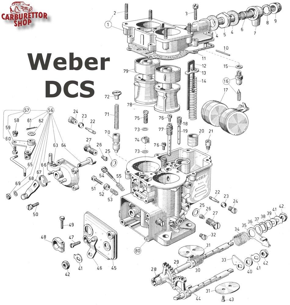 Weber DCS Carburetor Parts