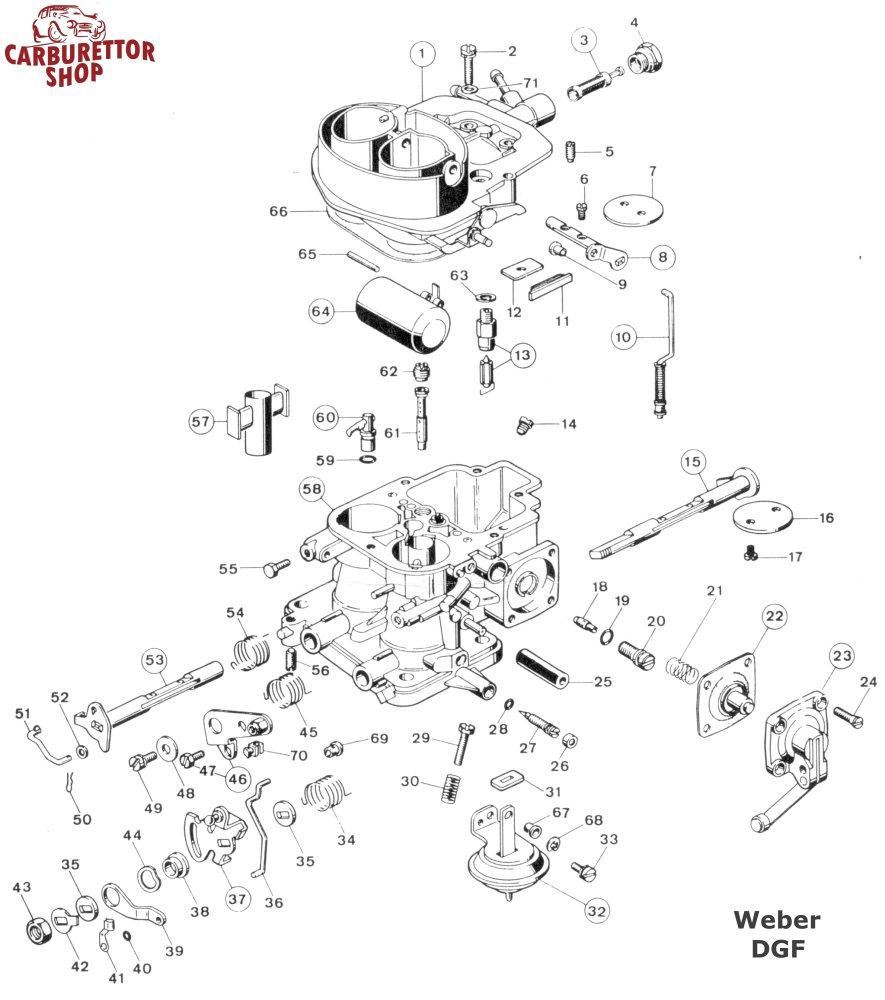 Weber DGF Carburetor Parts