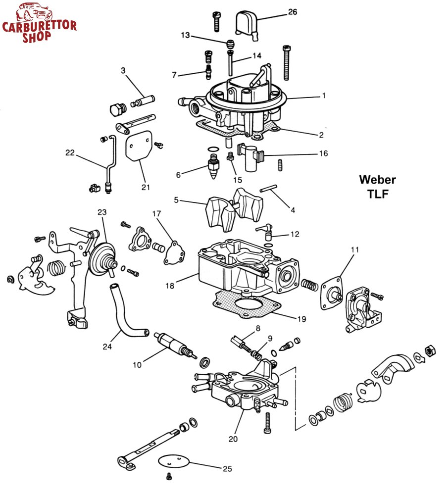 Weber TLF Carburetor Parts and Service Kits