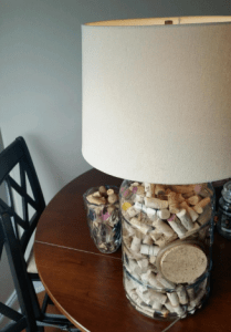 Cute cork lamp in action!