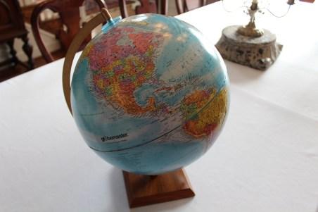 wedding globe guest registry dells daily dish